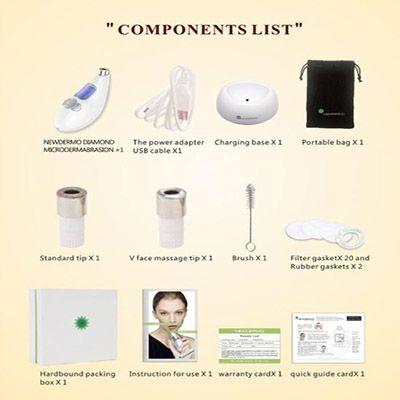 componentes microdermoabrasion facial Newdermo
