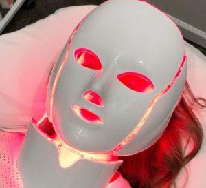 luz roja para eliminar las arrugas